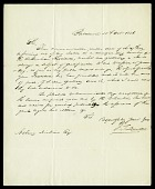 view Letter from G. Ducatel to Asbury Dickens, Secretary of the Columbian Institute, October 18, 1826 digital asset number 1