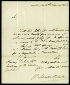 view Letter from J. Silvestre Rebello to Asbury Dickens, Secretary of the Columbian Institute, November 29, 1825 digital asset number 1