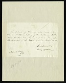 view Simon Cameron's Letter to Henry Knox Craig (April 20, 1861) digital asset number 1