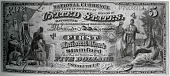 view Five dollar bill created by the National Currency Act of February 25, 1863 digital asset number 1