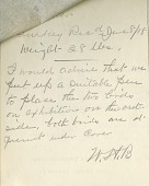 view Note from Zoo keeper William Blackburne in reference to two famous turkeys digital asset number 1