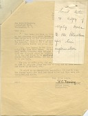 view Letter from Mr. R. C. Deming to Zoo Superintendent Ned Hollister, with note digital asset number 1