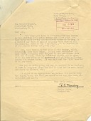 view Letter from Mr. R. C. Deming to Zoo Superintendent Ned Hollister digital asset number 1