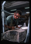 view Dr. Richard E. Grant Examines Fossil in Lab digital asset number 1