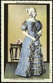 view Postcard of a Dress of Sarah Childress Polk digital asset number 1