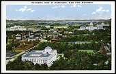 view Postcard with a Panoramic View of Washington digital asset number 1