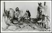 view Postcard of Native American Hupa Indians Exhibit digital asset number 1