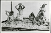 view Postcard of Native American Arrow Makers digital asset number 1