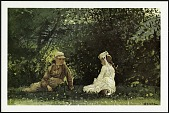 """view Postcard of """"Scene at Houghton Farm"""" digital asset number 1"""