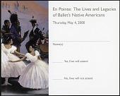 """view RSVP Postcard for """"En Pointe"""" Exhibit digital asset number 1"""