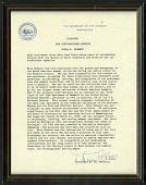 view United States Department of the Interior Citation for Distinguished Service Presented to Viola Schantz digital asset number 1