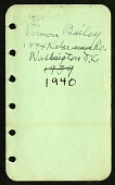 view Field notes, Washington, D.C., February 15-June 15, 1940, New Mexico, June 20-October 2, 1940 digital asset number 1