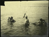 view Paul Bartsch (1871-1960) in the water on the left, with two other men, one of whom is dressed as Poseidon digital asset number 1