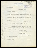view Letter from Captain Roger Welles to Charles D. Walcott, January 4, 1918 digital asset number 1