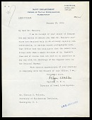 view Letter from Captain Roger Welles to Charles D. Walcott, January 12, 1918 digital asset number 1