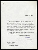 view Letter from Charles D. Walcott to Loring W. Beeson digital asset number 1