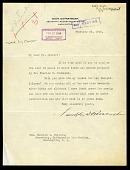 view Letter from Franklin D. Roosevelt to Charles D. Walcott digital asset number 1