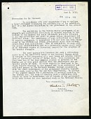 view Memorandum for Mr. William deC. Ravenel, June 5, 1918 digital asset number 1
