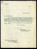 view Letter from Charles D. Walcott to President Woodrow Wilson, November 26, 1917 digital asset number 1