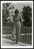 view A mechanic's suit with visored cap designed by the U.S. Department of Agriculture for female workers during World War II digital asset number 1