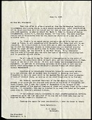 view Presidential Cruise of 1938 : correspondence, correspondents include Lucile McCain, Franklin D. Roosevelt, and Alexander Wetmore digital asset number 1