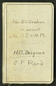view Account book, 1928-1935: D. C. Graham, H. G. Deignan, J. F. Rock digital asset number 1