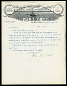 view USBF Halibut Survey of Washington and Oregon, 1914, Correspondence digital asset number 1