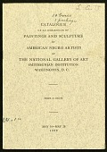 view Records digital asset: Catalogue of an Exhibition of Paintings and Sculpture by American Negro Artists at the National Gallery of Art, 1929 - Cover (Image no. SIA2016-011404)