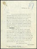 view Letter from Frank Baker, NZP Director, to Secretary Charles D. Walcott, 2/19/1908 digital asset number 1