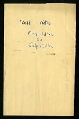 view Field notes, May 1902 - December 1904 : mostly bird observations made in and around North Freedom, Wisconsin, notes for November 27 - December 1, 1904 were taken at Independence, Kansas digital asset number 1