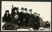 "view President Calvin Coolidge and First Lady Grace Coolidge at the Christening of Dirigible ""U.S.S. Los Angeles."" digital asset number 1"