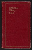 view Diary, 1935 digital asset number 1