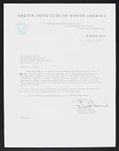 view Palmer Peninsula (Antarctica) Survey, 1962-1963 : correspondence, 1962-1966 digital asset number 1
