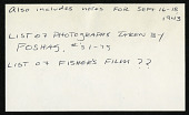 view Foshag, William F Field notes, January 16-October 27, 1945 digital asset number 1
