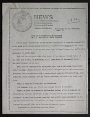 """view Publicity Records digital asset: Smithsonian Press Release entitled """"Works of 6 Artists Will Be Exhibited in the U.S. Pavilion at Venice Biennale,"""" April 19, 1972. The press release includes a biography of the artists, Keith Sonnier, Diane Arbus, Ron Davis, Richard Estes, Sam Gilliam, and James Nutt. Page 1. (Image no. SIA2017-048185)"""