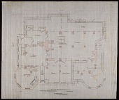 view Plan of the Foundation and Cellar of Alice Pike Barney's house in Bar Harbor, Maine digital asset number 1