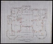 view Plan of the First Story of Alice Pike Barney's house in Bar Harbor, Maine digital asset number 1