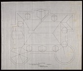 view Plan of the Roof of Alice Pike Barney's house in Bar Harbor, Maine digital asset number 1