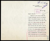 view Letter from Robert Todd Lincoln to Charles D. Walcott digital asset number 1