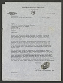 view Letter from Smokey Bear (featuring his paw print signature) to the Zoological Society of London digital asset number 1