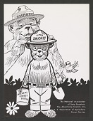 view Forest Service cartoon of Smokey Bear welcoming Little Smokey digital asset number 1
