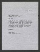 view Letter from Billie Hamlet of NZP to John Ball, December 12, 1974 digital asset number 1