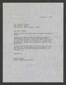 view A letter from Billie Hamlet of the NZP to Mrs. Jerry D. Rider regarding Smokey Bear receiving his peanut butter sandwich, August 15, 1974 digital asset number 1