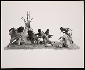 view Ethnology Exhibit Model, Kiowa Indians - Family Group digital asset number 1