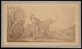 view Painting by Benjamin Waterhouse Hawkins - Attack in Pleistocene England digital asset number 1