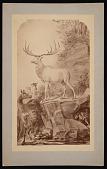 view Painting by Benjamin Waterhouse Hawkins - Irish Elk and Palaeolithic Hunter digital asset number 1