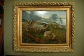 "view Holder, Edward Henry, 1847-1922, artist. Oil painting, ""Kudus at Victoria Falls"" digital asset: Holder, Edward Henry, 1847-1922, artist. Oil painting, ""Kudus at Victoria Falls"""