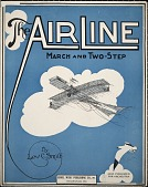 view The air line : march and two-step / by Lew C. Smith ; [arr. by John Itzel] digital asset number 1