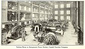 view Turbine room in Georgetown Power Station, Capital Traction Company from Electric railway journal. digital asset number 1