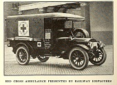 view Red Cross ambulance presented by railway employees from Electric railway journal. digital asset number 1